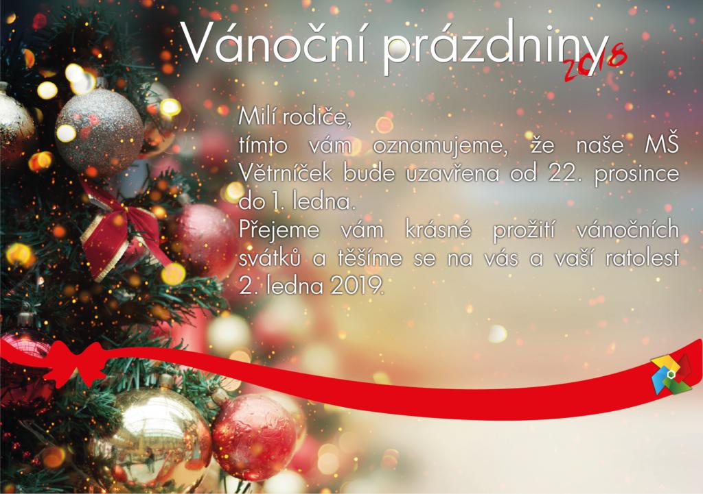 Vánoční prázdniny MŠ